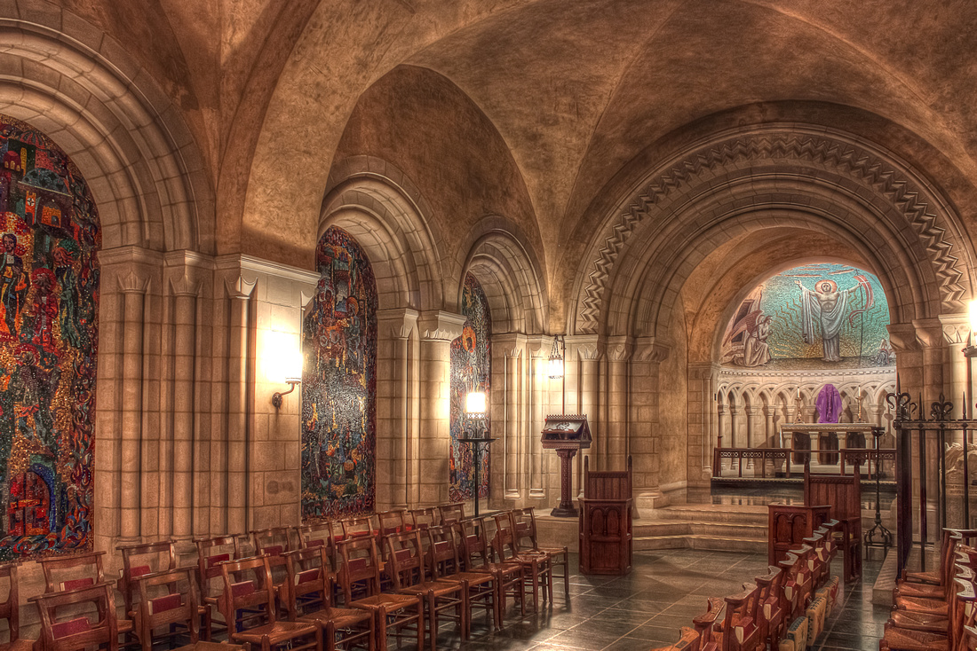 """""""National Cathedral Sanctuary And Crypt"""", """"National Cathedral"""", church, crypt, sanctuary, HDR, photography, photographer, photograph"""