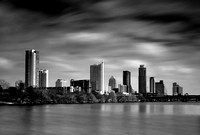 "Austin, skyline, ""Austin Skyline"", B&W, ""black and white"", cityscape, ""long exposure"", photography, photograph, photographer"